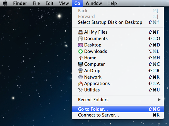 Goto Folder In Finder Facetime Error : The server encountered an error processing registration please try again later