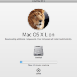 Max OS X Lion Install Downloading Updates 150x150 Mac OS X lion Installation Screen Shots (Golden Master: 11A511)