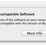 Max OS X Lion Install Incompatble software warning  150x150 Mac OS X lion Installation Screen Shots (Golden Master: 11A511)