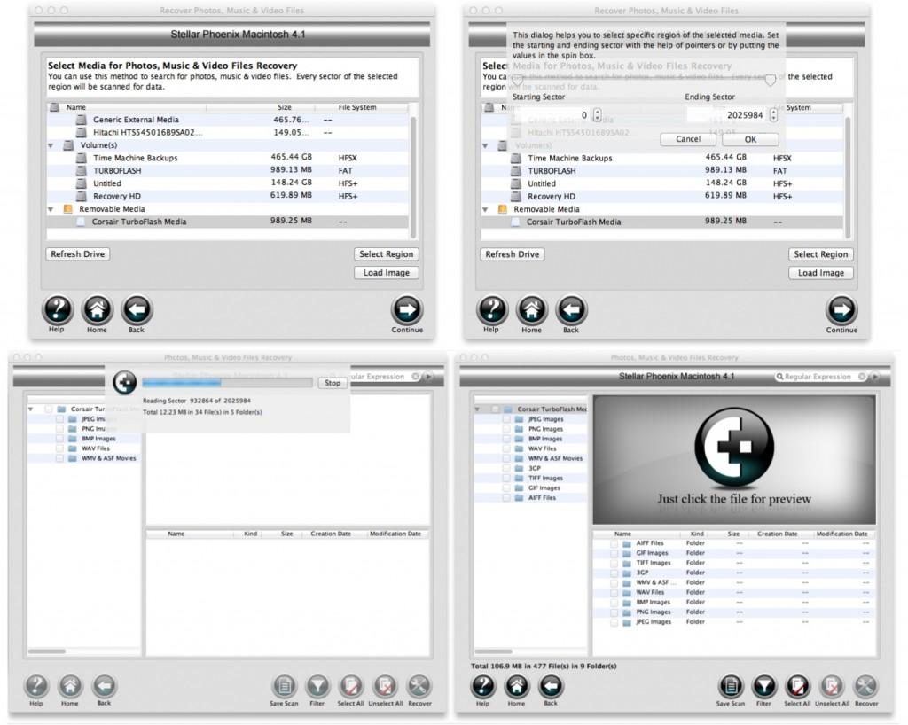 Stella Phoenix Photo Recovery 1a1 1024x818 Review : Stellar Phoenix Mac Data Recovery