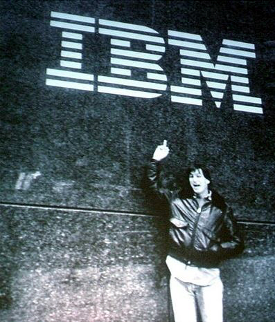 Steve Flips The Bird at IBM