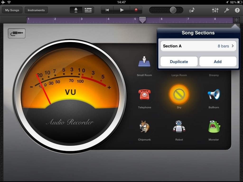 20120505 145240 How to increase the recording time in Garageband for iPad or iPhone