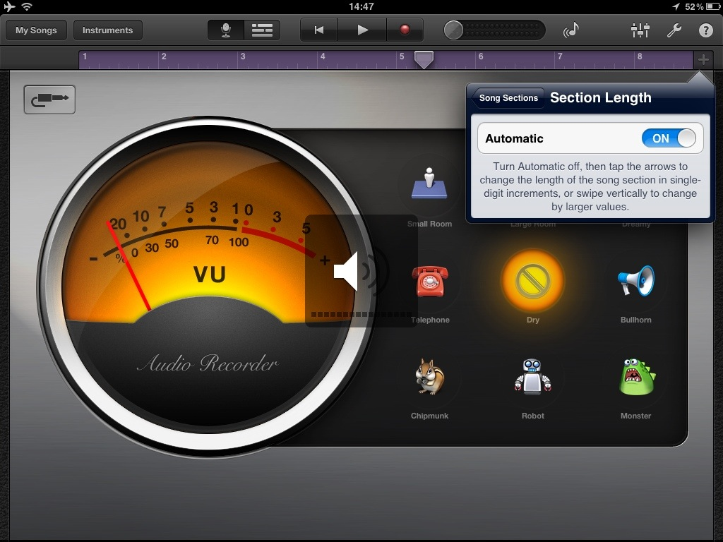 20120505 145248 How to increase the recording time in Garageband for iPad or iPhone
