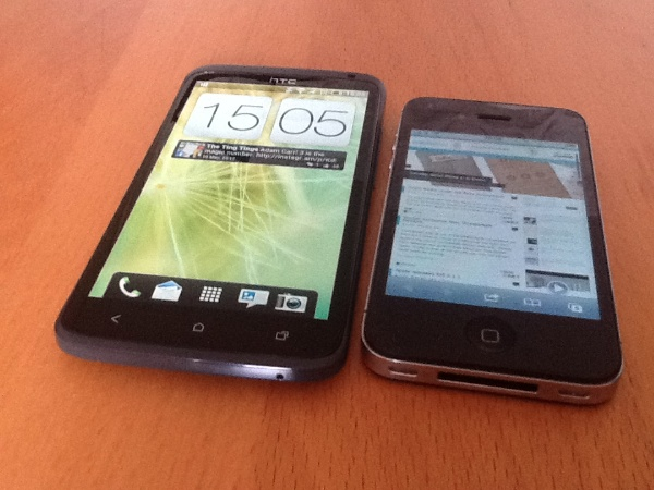 HTC one x v iphone