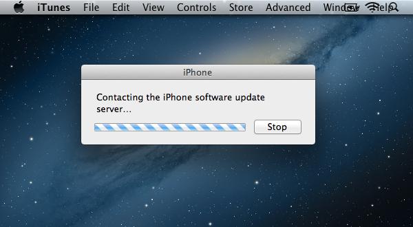 iTunes Contacting Server