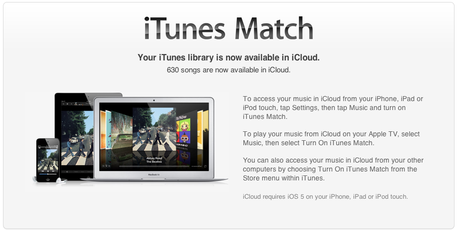 iTunes Match 1 Year on