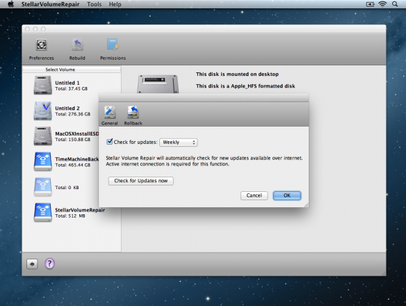 StellarVolumeRepair Preferences 1 584x440 Stellar Software Mac Volume Repair 1.0 Review   A Disk Utility Alternative