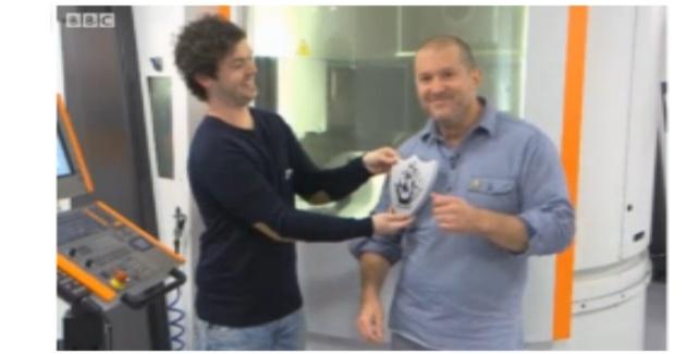 Jonathan Ive blue peter badge
