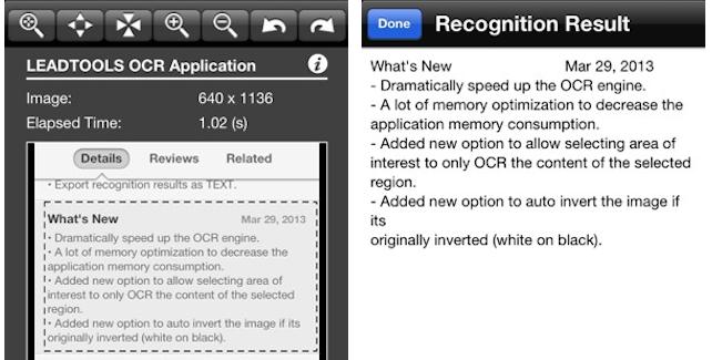 Leadtools OCR for iOS