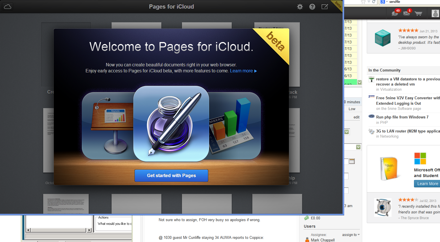 iCloud Beta Pages iWork for iCloud beta Now Available For Registered Developers.