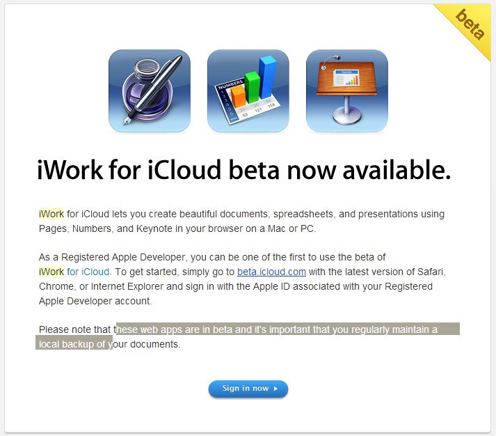 iwork for icloud invite iWork for iCloud beta Now Available For Registered Developers.