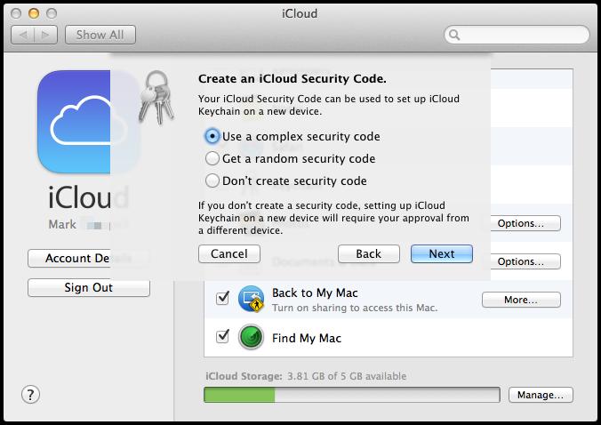 wpid 133727387 OS X Mavericks iCloud KeyChain Setup and Useage.