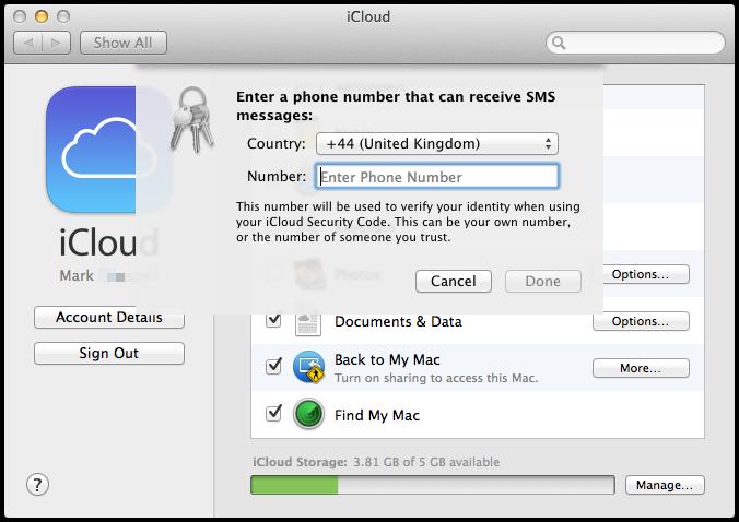 wpid 178408546 OS X Mavericks iCloud KeyChain Setup and Useage.