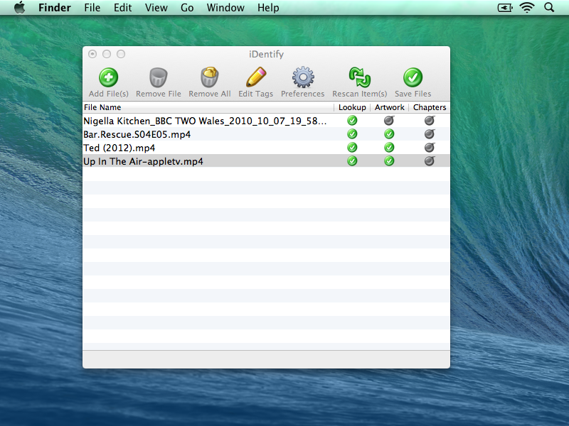 iDentify Main Window Complete Your iTunes Video and Movie Information with iDentify 2