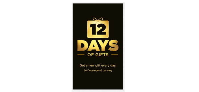 Apple 12 Days Of Gifts 2013