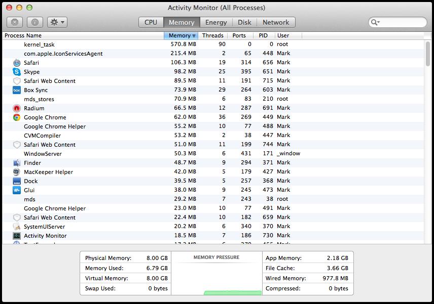 Mavericks Activity Monitor Memory Tab Differences Between OS X Yosemite And OS X Mavericks Activity Monitor