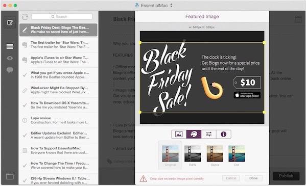 Black Friday Deal: Blogo The Best Wordpress App For Mac only $10
