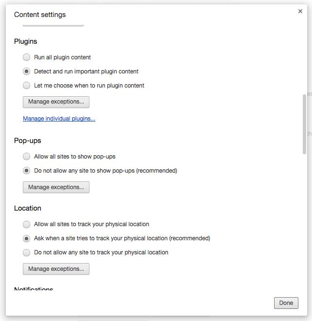 Chrome Content Settings Plugins New Chrome Beta Blocks Flash Content By Default.  Laptop Batteries Everywhere Rejoice