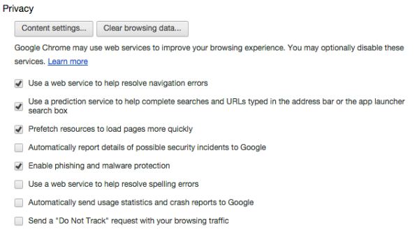 Chrome Privacy Settings 600x330 New Chrome Beta Blocks Flash Content By Default.  Laptop Batteries Everywhere Rejoice