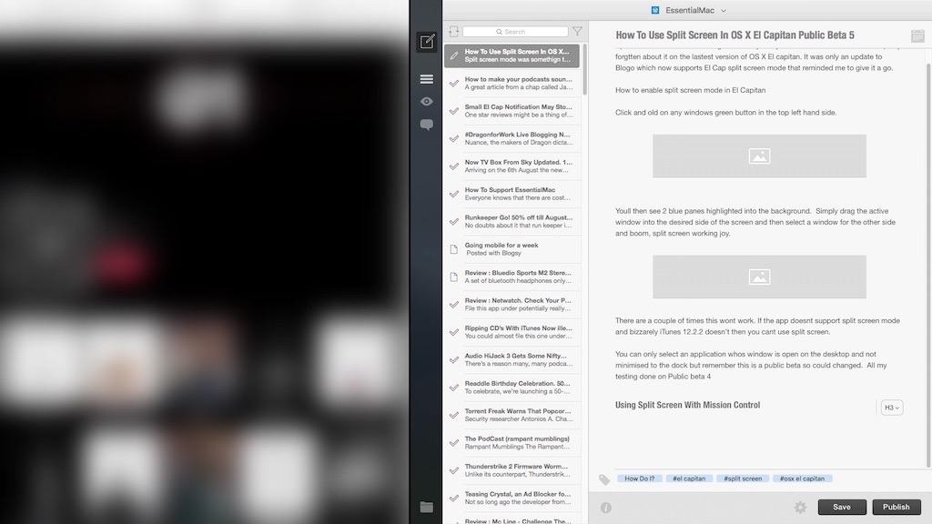 How To Use Split Screen In OS X El Capitan Public Beta 5