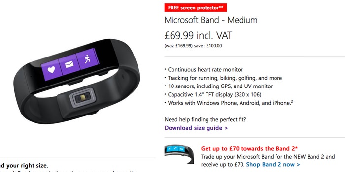 Microsoft Band 1 Offer