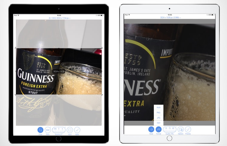 Crop-Size iPad Pro