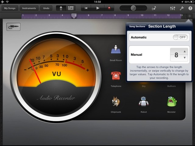 Garageband Increase Recording Time Step 2 How to increase the recording time in Garageband for iPad or iPhone